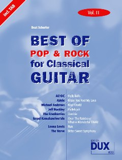Scherler, Beat/ Best of Pop & Rock for Classical Guitar Band 11